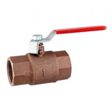 Bronze body F.F. full bore ball valve, stainless steel handle